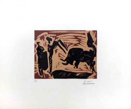 Linocut Picasso - Banderilles