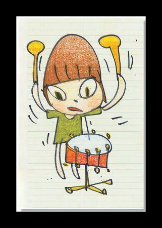 Lithograph Nara - Banging The Drum
