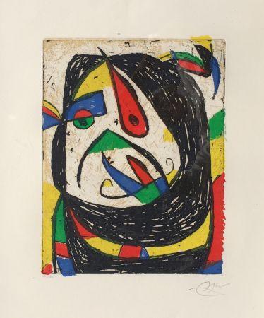 Etching Miró - Barb IV
