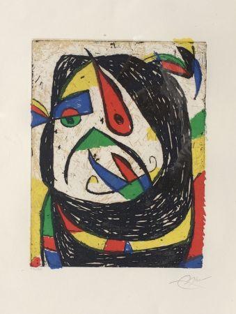 Etching Miró - Barb IV (D. 1224)
