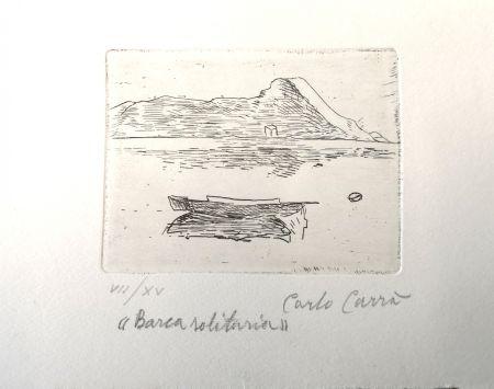 Engraving Carra - Barca solitaria