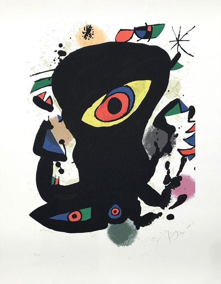 Lithograph Miró - Barcelona