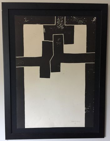 Lithograph Chillida - Barcelona