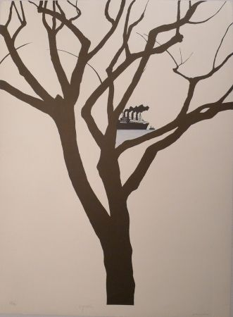 Lithograph Perejaume - Barcelona83