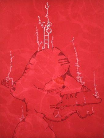 Lithograph Ponc - Barcelona 1
