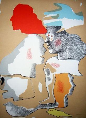 Lithograph Castillo - Barcelone 4
