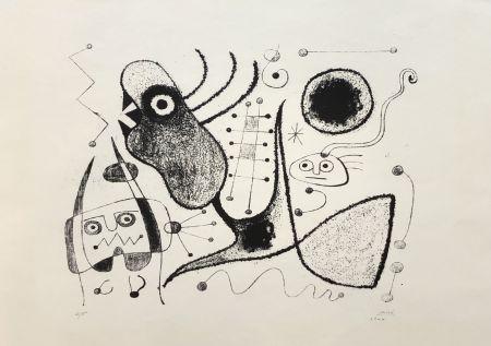 Lithograph Miró - Barcelone XXXXIX (M. 54)