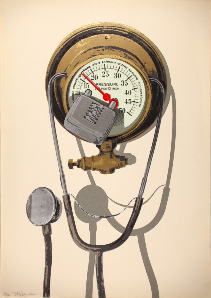 Screenprint Burwitz - Barometer of Average Sensibilities (Combination Lost)