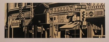 Linocut Cottingham - Barrera-Rosa's