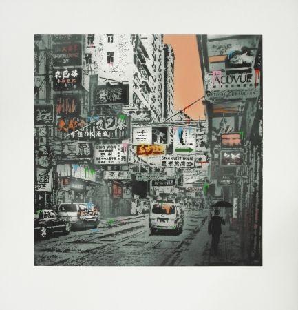 Screenprint Walker - Basking in the glory - Hong Kong Street Scene #1