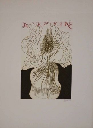Etching And Aquatint Baskin - Baskin's Iris