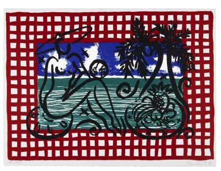 Lithograph Szczesny - Bathers on Mustique