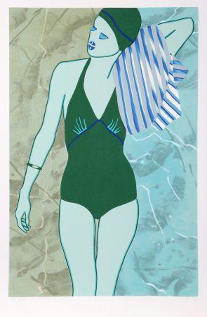 Screenprint Kogelnik - Bathing in Green