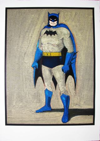 Woodcut Ramos - Batman