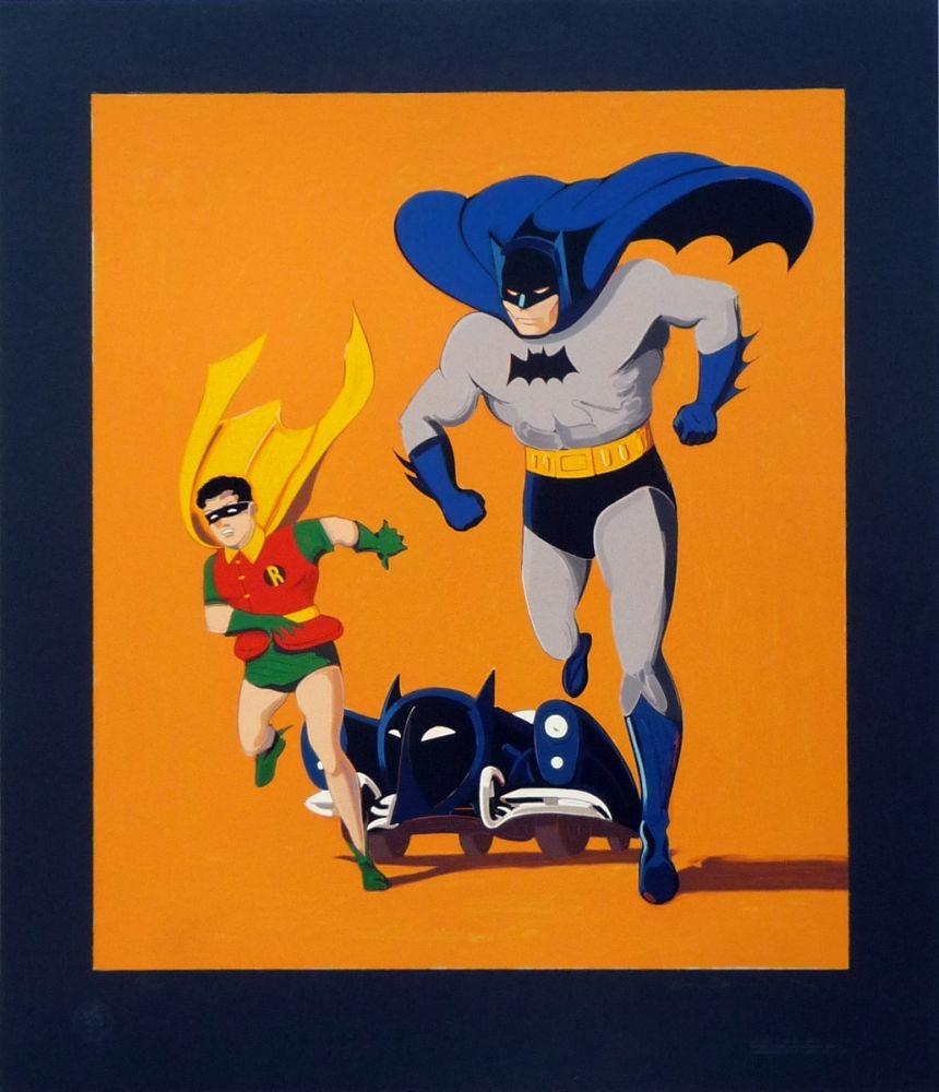 Screenprint Ramos - Batman, Robin and Batmobile