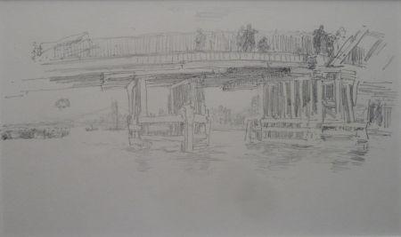 Lithograph Whistler - Battersea Bridge