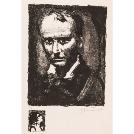 Lithograph Rouault - Baudelaire