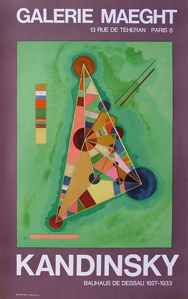 Poster Kandinsky - BAUHAUS DE DESSAU. Affiche originale en lithographie (1965).