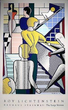 Screenprint Lichtenstein - Bauhaus Stairway