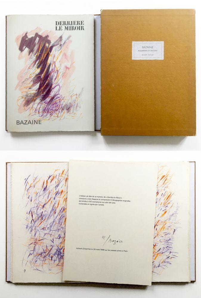 Illustrated Book Bazaine - BAZAINE AQUARELLES ET DESSINS. Derrière le miroir, n° 170. 1968. TIRAGE DE LUXE SIGNÉ.
