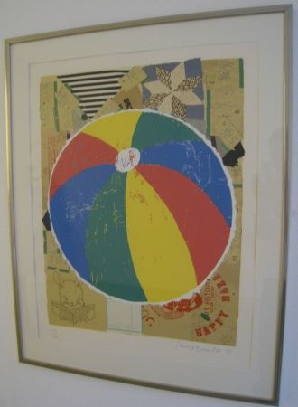 Screenprint Baechler - Beachball