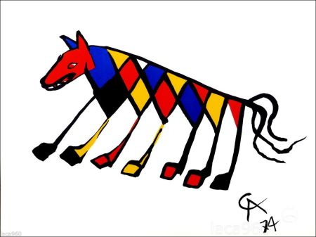 Lithograph Calder - Beastie