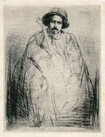 Etching Whistler - Becquet - Plate 8 from A Series of Sixteen Etchings