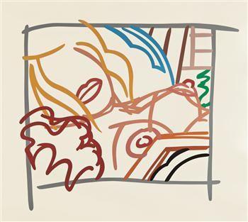 Screenprint Wesselmann - Bedroom Blonde Doodle with Photo