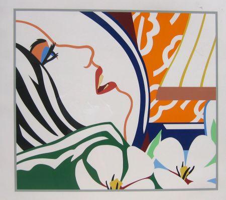 Screenprint Wesselmann - Bedroom Face with Orange Wallpaper