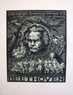 Woodcut Belot  - Beethoven