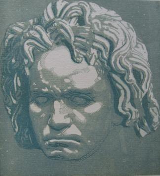 Woodcut Beltrand - Beethoven