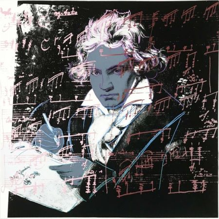 Screenprint Warhol - Beethoven 391