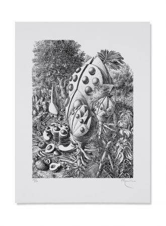 Lithograph Alejandro - Beetle Forest