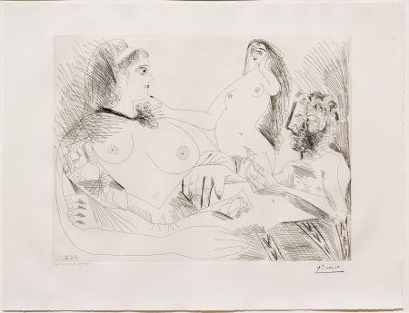 Etching Picasso - Belle Jeune Femme a sa Toilette Revant