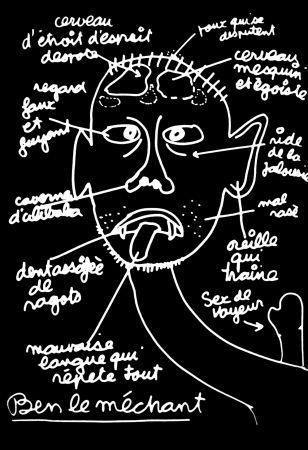 Screenprint Vautier - '' Ben le Méchant ''