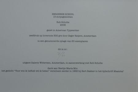 Screenprint Scholte - Bergen, 13 dorpsgezichten, gafiekmap