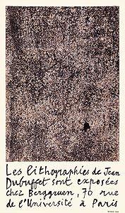 Lithograph Dubuffet - Berggruen