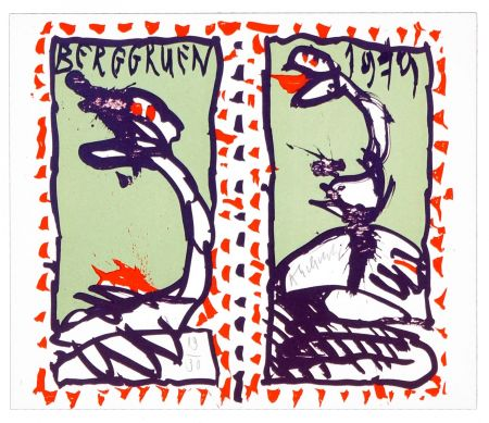 Lithograph Alechinsky - Berggruen