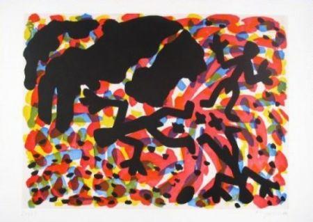 Etching And Aquatint Penck - Berlin Blatt VII