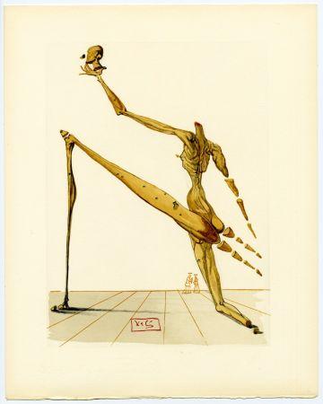 Woodcut Dali - Bertand de Born. La Divine Comédie (L' Enfer, Chant 28)
