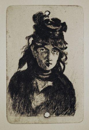 Etching Manet - Berthe Morisot