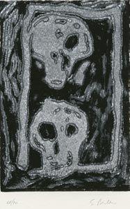 Linocut Bertelli - Bestiario gotico