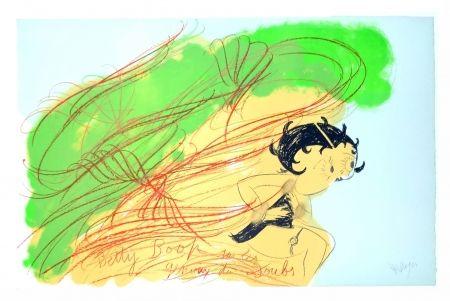 Lithograph Messagier - Betty Boop