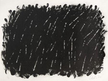 Lithograph Uecker - Bewegung