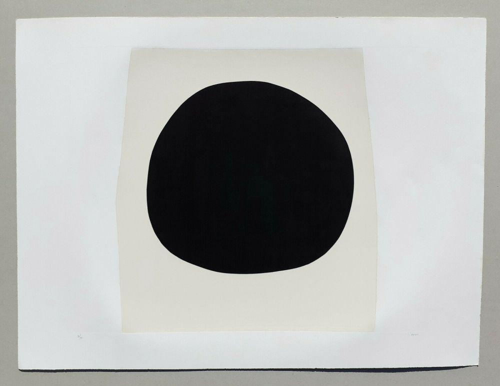 Lithograph Burri - Bianchi e neri I - Tavola F