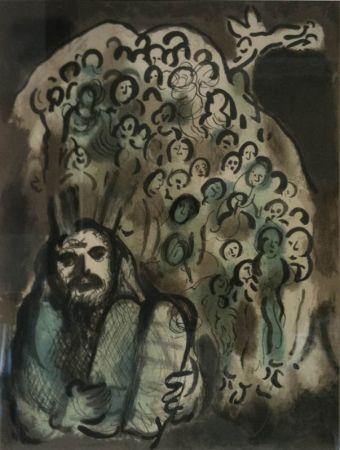 Lithograph Chagall - Biblical Mesage