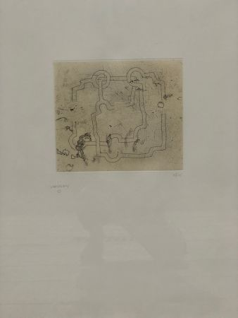 Etching And Aquatint Chillida - Bidearte I