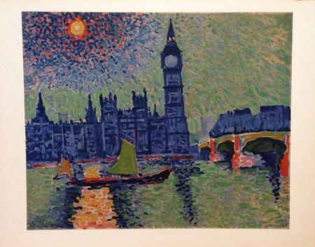 Lithograph Derain - Big Ben