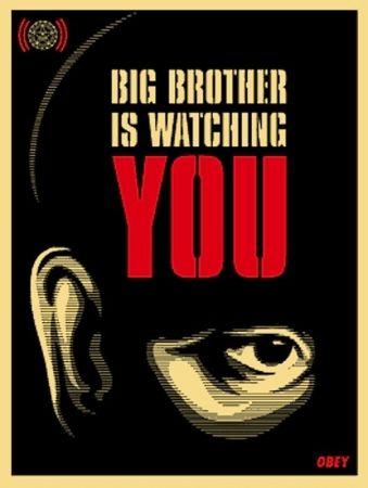 Screenprint Fairey - Big Brother is Watching You