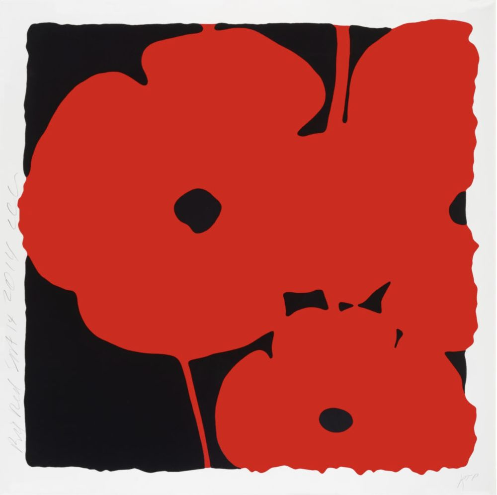 Screenprint Sultan - Big Poppies